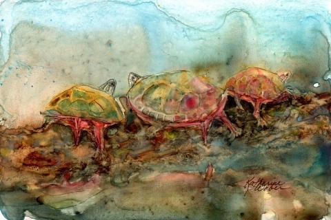 Turtle Trio miniature